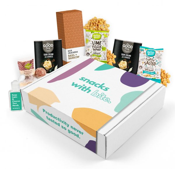 snack box with hand sanitiser